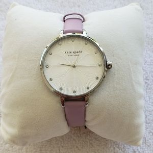 kate spade metro lilac leather watch